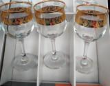 Set 6 pahare aurite model deosebit