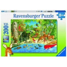 Puzzle Animale In Padure, 200 Piese