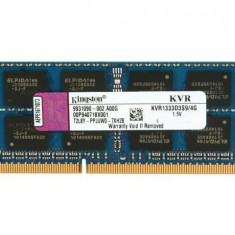 Memorie ram sodimm Kingston 4Gb DDR3 1333Mhz PC3-10600S,1.5V, kvr1333d3s9/4g