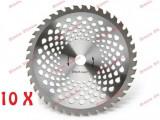 Pachet promotional 10 buc disc taietor motocoasa 255 x 40T x 25.4mm NAKAMURA