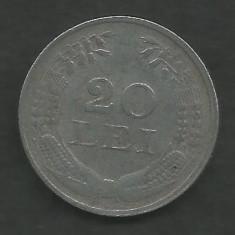 ROMANIA  20  LEI  1942  ZINC   [2]  VF ,   livrare  in  cartonas