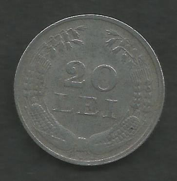 ROMANIA 20 LEI 1942 ZINC [2] VF , livrare in cartonas foto