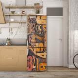 Sticker Tapet Autoadeziv pentru frigider, 210 x 90 cm, KM-FRIDGE-18