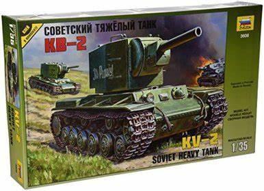 + Kit tanc 1/35 Zvezda 3608 - Soviet Tank KV-2 +