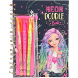 Set desen Neo Doodle Book Top Model Depesche, 2.7 x 16 x 21 cm