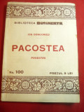 Ion Dongorozi-Pacostea -Prima Ed-Colectia Bibl.Dimineata nr.100 Adevarul ,88 pag
