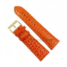 Curea ceas portocalie piele naturala NAGATA 20mm 22mm 24mm 26mm WZ1710