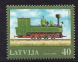 LETONIA 2001, Locomotive, serie neuzată, MNH, Transporturi, Nestampilat