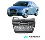 Grila radiator cu bandou negru lucios Audi A4 B7 2005|2006|2007