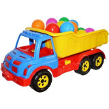 Jucarie Roben Toys, Camion 60cm din plastic cu mingiute