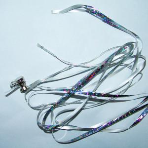 Rafie argintie cu led-uri albe pentru baloane - 5mm x 150cm, Radar TW/S