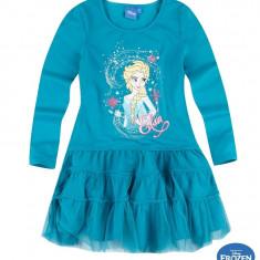 Rochie cu tul Elsa Frozen verde, 8 ani, 128 cm