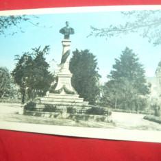 Ilustrata Bustul Imparatului Traian - Turnu Severin cu marca fixa 1960