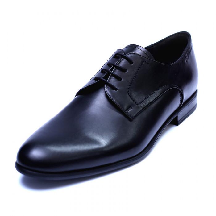 Pantofi barbati din piele naturala, Russel, ANNA CORI, Negru, 39 EU