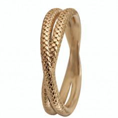 Inel Twin Snake, Argint 925 placat cu aur galben de 18 K, Masura 49