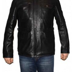 Haina barbati, din piele naturala, Kurban, italyan-01-95, negru