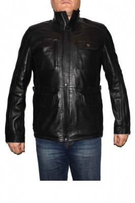 Haina barbati, din piele naturala, marca Kurban, italyan-01-95, negru , marime: XL foto