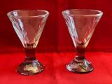 Deosebite doua cupe de inghetata din sticla- marca Fidji La Rochère
