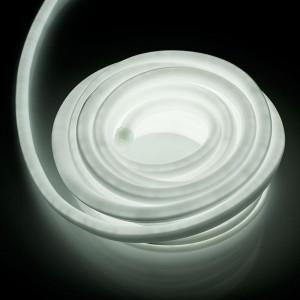 Furtun luminos flexibil tip LED Neon, 10 m, 8 W, 5500K alb rece