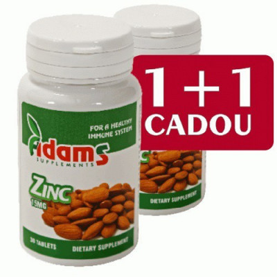 Zinc 15mg, 30cps, Adams Vision 1+1 foto