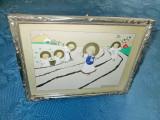 3666-Copii ingerasi-Tablou Grafica-acuarela-tehnica mixta.