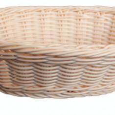 Cos oval paine, fructe, legume servire rezistent la apa, 23.5 x 15 x 7 cm culoare natural, 014030