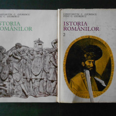 CONSTANTIN C. GIURESCU - ISTORIA ROMANILOR 2 volume  (cu dedicatie si autograf)