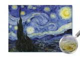 Reproducerea picturii van Gogh-Noaptea înstelată textură pictată manual 120x80cm, Vincent Van Gogh
