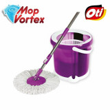Set compact de curatenie, OTI, galeata cu centrifuga si Mop Vortex, OTI, 1 rezerva, 9 L, 141181, Mov