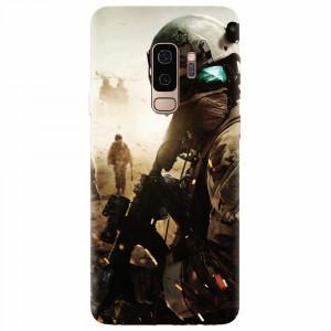 Husa silicon pentru Samsung S9 Plus, Battlefield