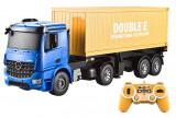 Camion container Mercedes-Benz 1:20 2,4 GHz sunete și lumini, uși se deschid, semiremorcă detașabila