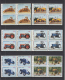 ROMANIA 1985 LP 1137 TRACTOARE ROMANESTI BLOCURI DE 4 TIMBRE MNH, Nestampilat