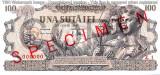 REPRODUCERE  bancnota specimen 100 Lei 25-iunie  1947  Romania