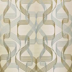 Tapet bej model abstract cu finisaj metalic evidentiat 507-23