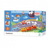 Puzzle - Descoperim vehiculele (18 piese) PlayLearn Toys, Dodo