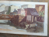 Preziosi- Bucurestii in 1869, cromolito, format: 58 *24 cm