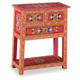 VidaXL Servantă cu sertare, lemn masiv de mango, roz, pictat manual