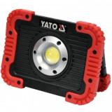 Proiector cu led si acumulator Yato YT-81820, putere 10W, 800 lm, 4400 mAh