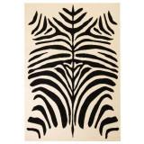 Covor modern Design zebră 120 x 170 cm Bej/negru
