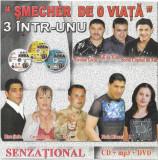 2CD+DVD Șmecher De O Viață, originale, manele, CD