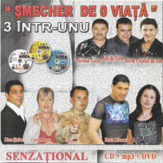 2CD+DVD Șmecher De O Viață, originale, manele