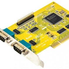 Adaptor dublu PCI la 2 x DB9 (RS232) + paralel DB25 (LPT)