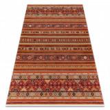 Covor Lână KESHAN franjuri, oriental 7685/53578 teracotă, 120x145 cm, Dreptunghi, Lana