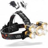 Cumpara ieftin Lanterna de Cap cu 5 LED-uri , 30W , 8000 Lumeni