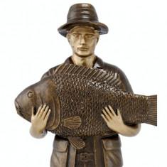 Figurina Pescar din rasina, 20 cm
