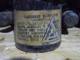 Vin rosu Cabernet Sauvignon -1958, Demi-sec, Romania 1950 - 1970