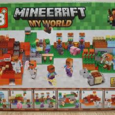 NOU/SIGILAT - Set de 80 piese tip lego Minecraft - My World LB 514-5