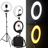 Lampa Circulara Led Bicolora fashion cosmetica make-up studio foto Multicolora