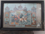 Icoana romaneasca Sf Ilie Sf Nicolae Maica Domnului litografiata 1900-1920