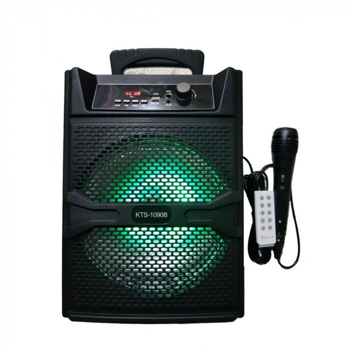 Boxa Bluetooth KTS-1090 Karaoke, USB, Microfon si Telecomanda